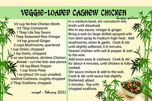 VEGGIE LOADED CASHEW CHICKEN