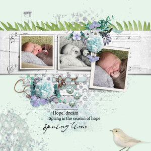 Featuring: Spring Swing Kit and Spring Into Swing Template