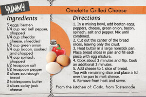 Omlette Grilled Cheese