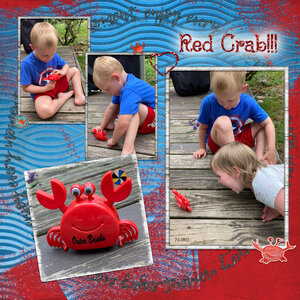 Tuesday Challenge 6/29/21 Red Crab