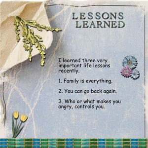 Day 5 -- A Life Lesson Learned Recently