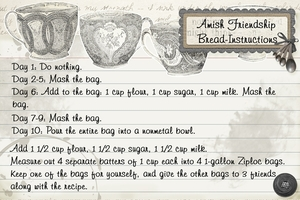 Amish Friendship Bread Instructions (part 2 of 3)