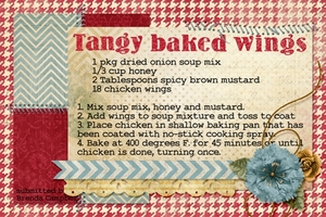Tangy Baked Wings