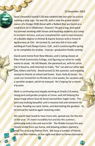 Crane 2012 Christmas Letter p.1