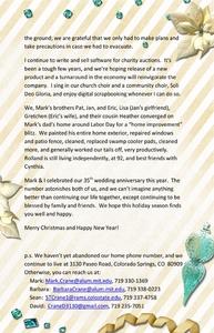 Crane 2012 Christmas Letter p.2