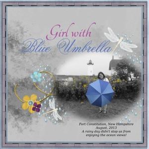 Dec 27 - Girl With Blue Umbrella