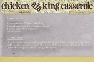 Sept. Swap Chicken Ala King Casserole