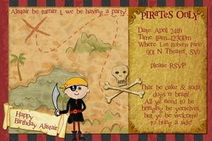 1st b-day invite