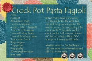 Crockpot Pasta Fagioli