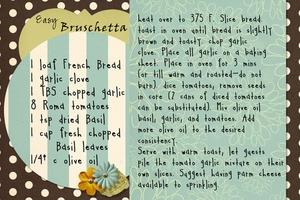 Nov: Easy Bruschetta