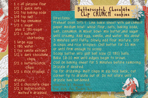 butterscotch chocolate chip crunch cookies