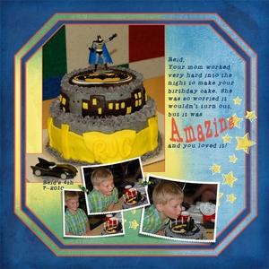 The Amazing Batman Cake