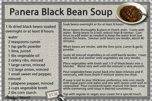 Panera's Black Bean Soup Recipe