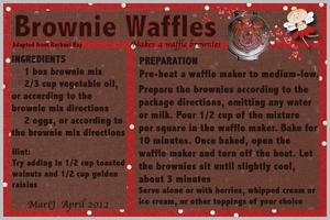Apri/Breakfastl:  Brownie Waffles!