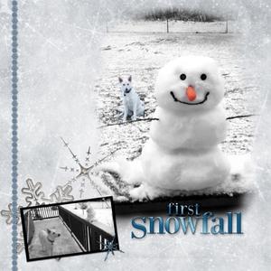 "Saturday Color Challenge 11/29/14 BW/Color ""Neva's 1st Snow"""
