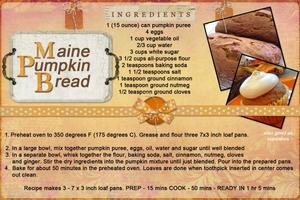 Maine Pumpkin Bread