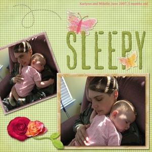 Sleepy Girl, June 2007