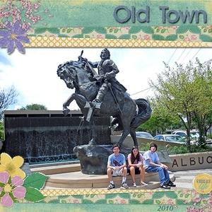 Old Town Fountain - March ScrapGirls Club