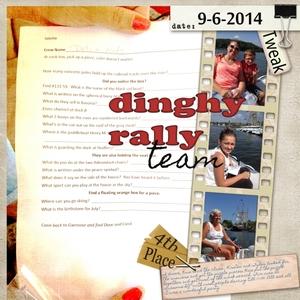 Dinghy rally team