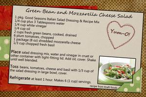 Green Bean and Mozzarella Cheese Salad
