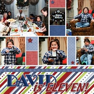 David is eleven, left pg