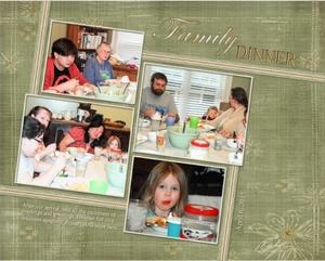 Family Dinner & Peek-a-Boo