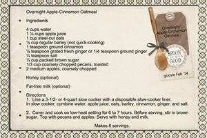 Overnight Apple-Cinnamon Oatmeal