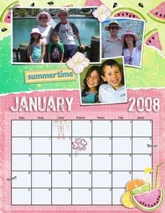 January 2008 Calendar