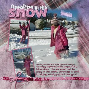 Caroline in the Snow