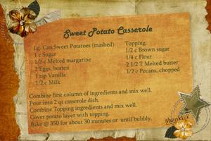 Sweet Potato Casserole - Recipe Swap