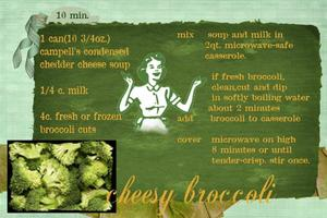 10 min cheesy broccoli