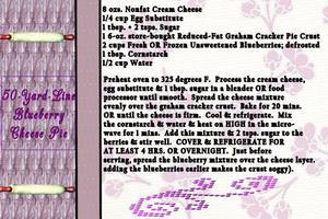 50-Yard-Line Blueberry Cheese Pie