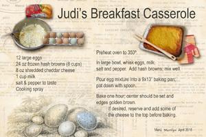 April 18 SG Recipe Swap Breakfast: Judi's Breakfast Casserole