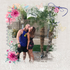 My daughter and Husband