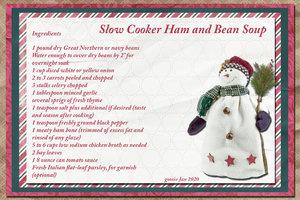 goosie Slow cooker Ham and Bean Soup