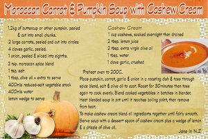 Feb Recipe swap_moroccan carrot & pumpkin soup with cashew cream pg 1