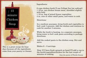 15 Minute Chicken Soup