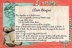 CLAM BISQUE