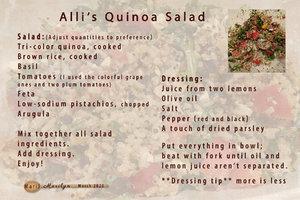 March 2020 SG Recipe Swap: Healthy - Alli's Quinoa Salad