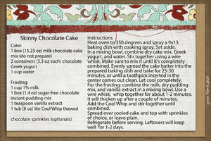 goosie Skinny Chocolate Cake