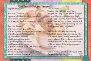 goosie Thai Peanut Chicken Skewers