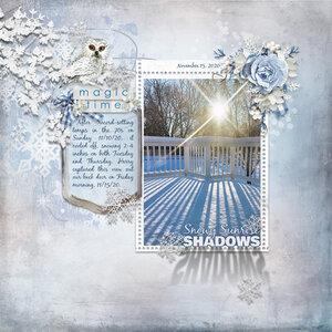 Snowy Sunrise Shadows