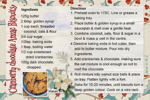 cookie swap_cranberry chocolate anzac biscuits