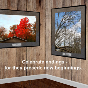 Celebrate endings - for they precede new beginnings