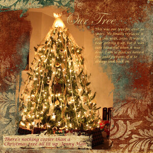 There's nothing cozier than a Christmas tree all lit up - Jenny Han