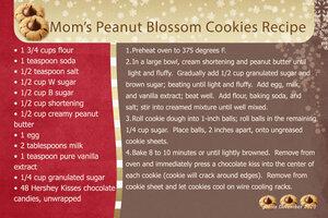 Mom's Peanut Blossom Cookies Recipe