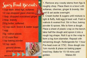 cookie swap_Spicy Fruit Biscuits