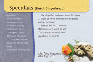 Speculaas - Dutch Gingerbread