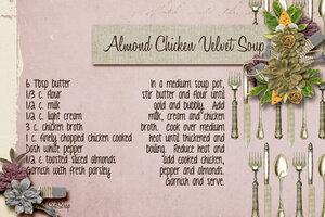 Almond Chicken Velvet Soup