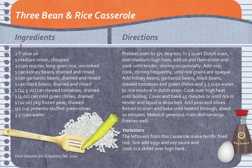Celestine_Three Bean & Rice Casserole